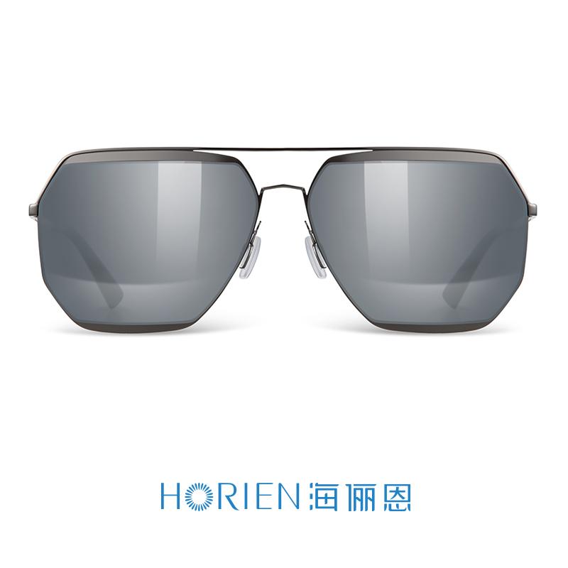 海俪恩2018新款时尚拼接墨镜男尼龙偏光太阳镜女情侣款司机镜6657N6657N01P