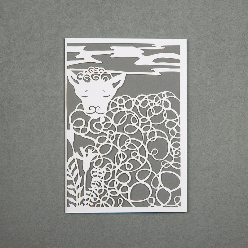 英国原产Chau Art害羞的明信片创意贺卡