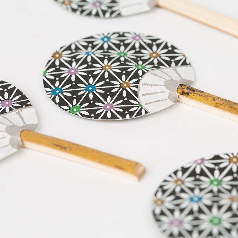 日本原产Ishikawa 美浓和纸 摆件扇子5把装 随机样式