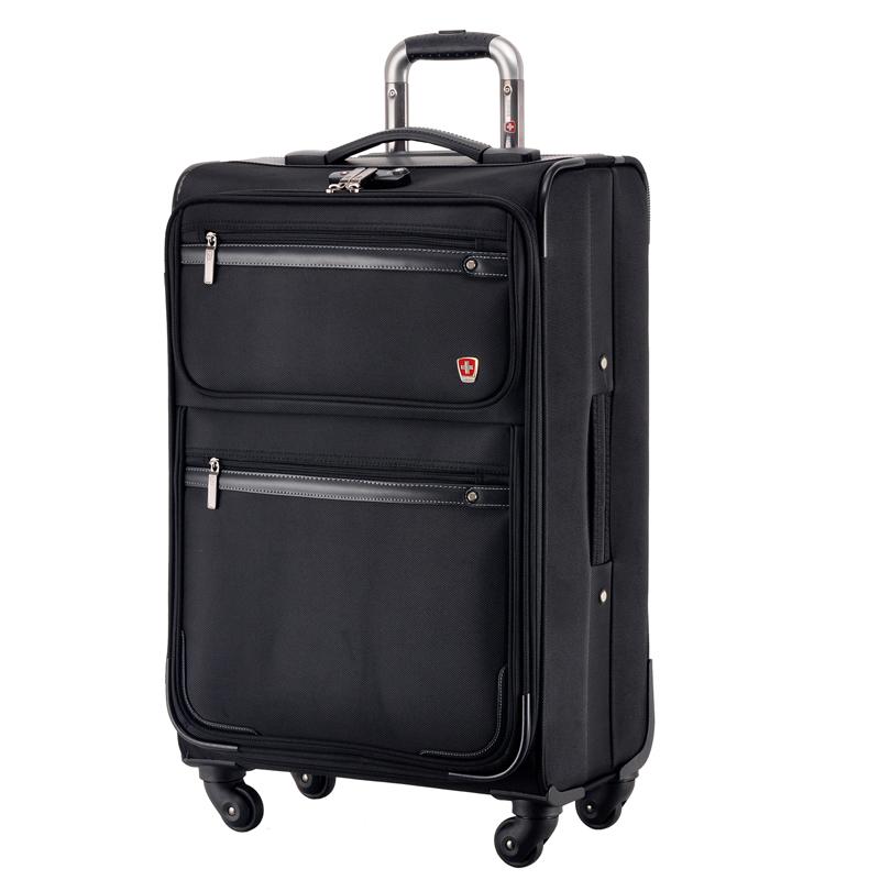 瑞动(SWISSMOBILITY)拉杆箱26英寸商务时尚差旅行李箱 防泼水静音万向轮旅行箱男女 5513黑色