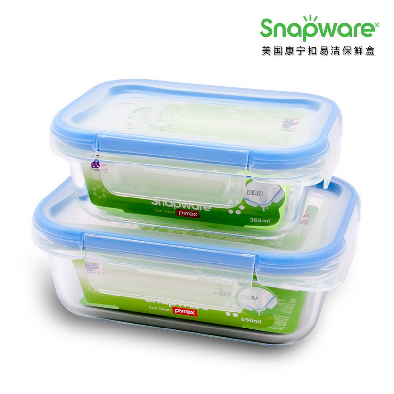 美国康宁ECO Clean易洁保鲜盒SW-EC51(两件套)