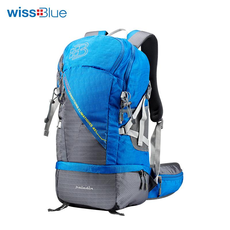 维仕蓝45L户外蓝色背包【QC】