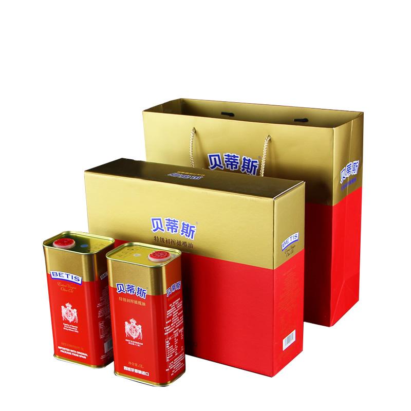 贝蒂斯(BETIS)特级初榨橄榄油1L*2礼盒【新疆,甘肃、西藏,青海,内蒙古等偏远地区不发货】