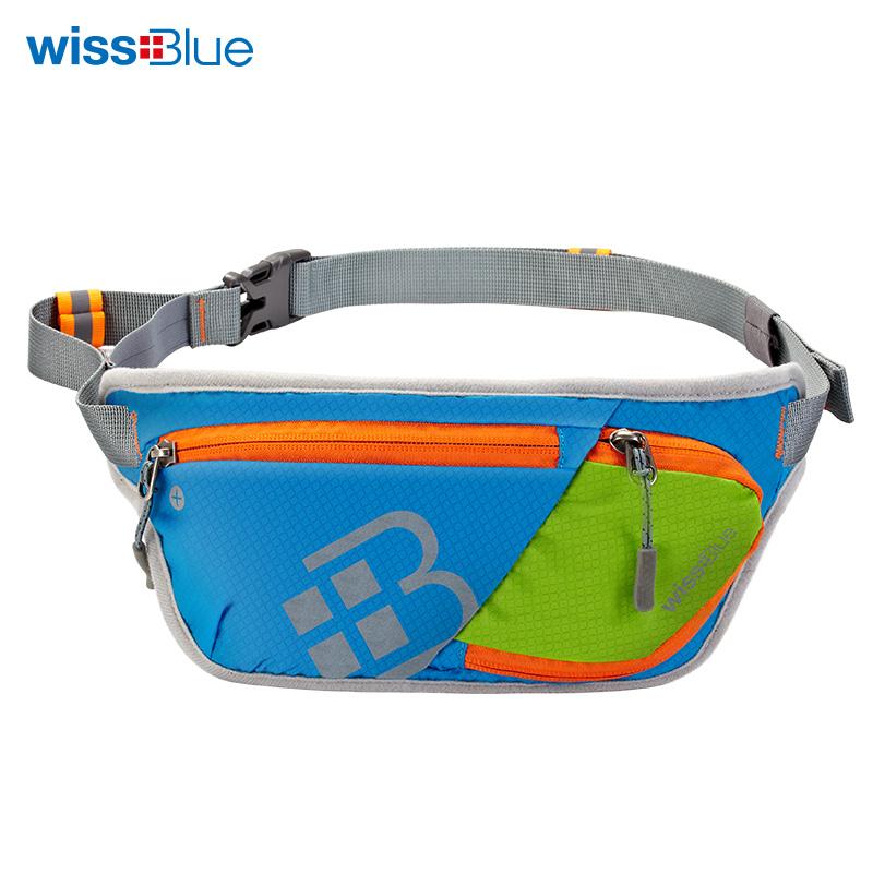 维仕蓝 户外超轻跑步腰包 防水尼龙面料 ,39cmX14cmX1cmWB1155-B 混色