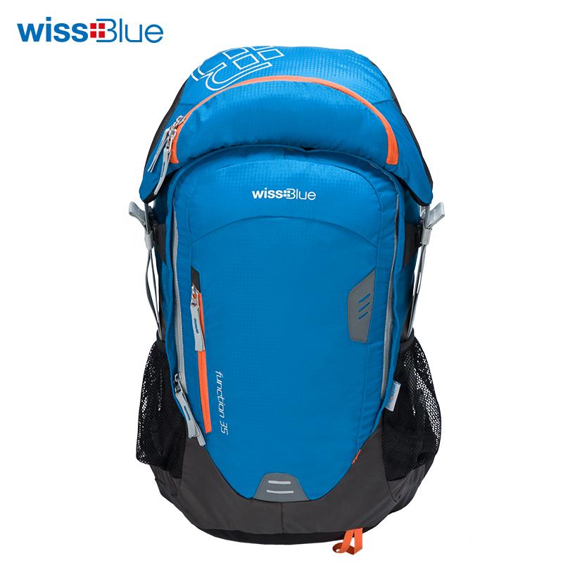 维仕蓝组合包 背包+腰包  蓝色