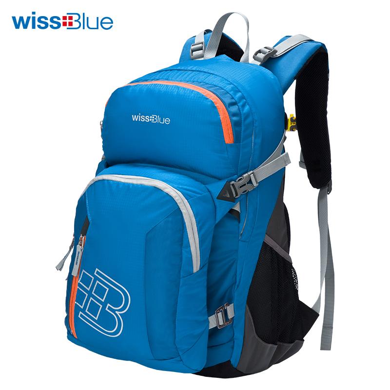 维仕蓝组合包 背包+挎包  蓝色