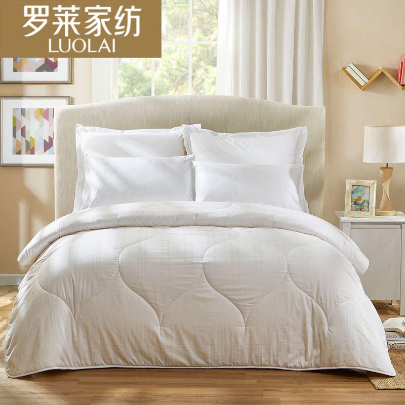 罗莱家纺  大豆纤维被 白色 200*230cm清雅大豆春秋被200*230CM 白色