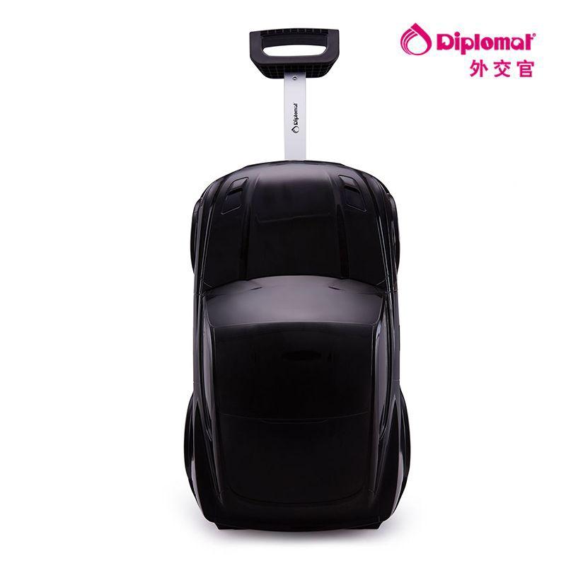外交官儿童拉杆箱TP-206A 黑色【QC】