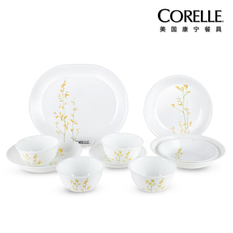 CORELLE 美国康宁餐具(兰桂飘香系列)CR-KE02(十件套)  白色