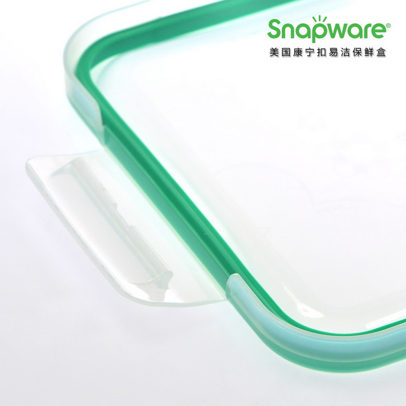 美国康宁ECO Clean易洁保鲜盒SW-EC49(两件套)  绿色