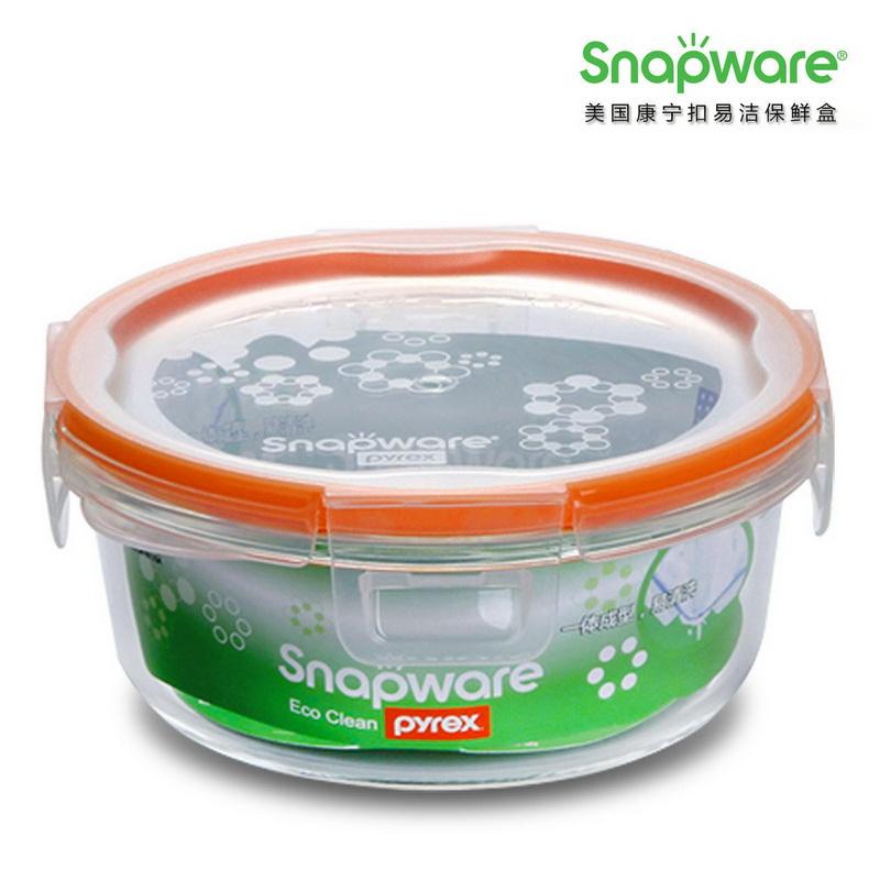 美国康宁ECO Clean易洁保鲜盒SW-EC52(两件套)  橙色