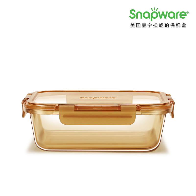 SNAPWARE 美国康宁Amber Clear 琥珀保鲜盒  橙色  橙色