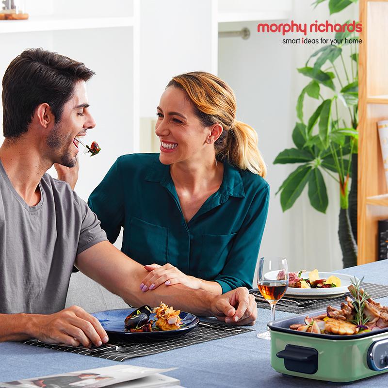 摩飞电器(Morphyrichards)MR9088多功能锅料理锅 电烧烤锅电火锅烧烤炉家用电蒸锅  绿色