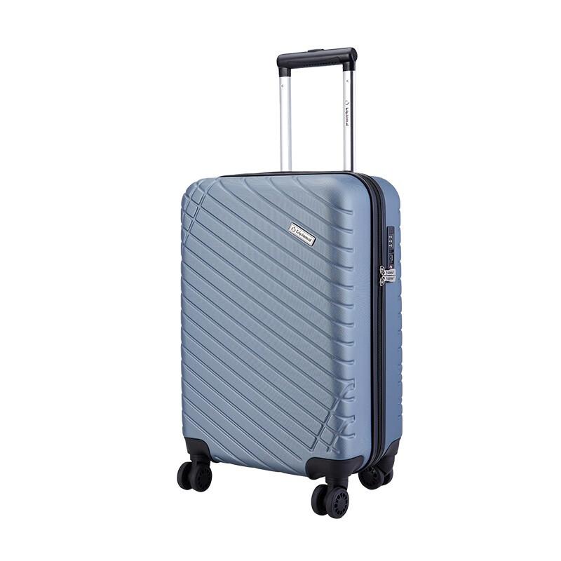 外交官Diplomat 商务休闲拉杆箱YH-6382 (蓝色-105/银蓝色-903)颜色随机 20寸
