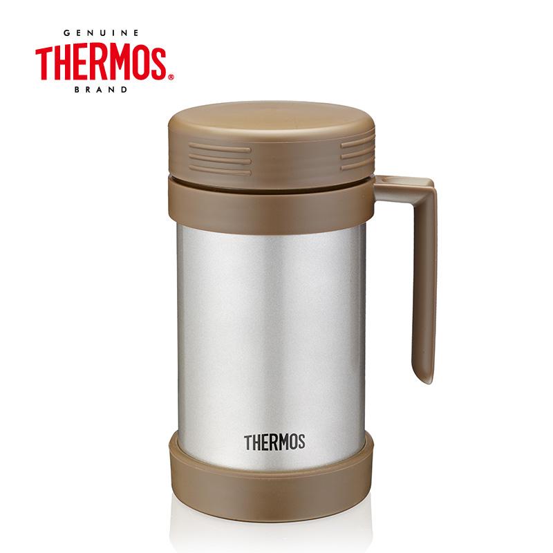 THERMOS膳魔师 高真空 泡茶杯  JMF-501(褐色) 500ml  香槟色