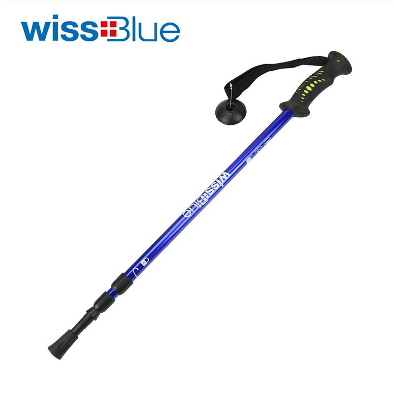 维仕蓝 三节可调节超轻登山杖WA8039 蓝色  蓝色