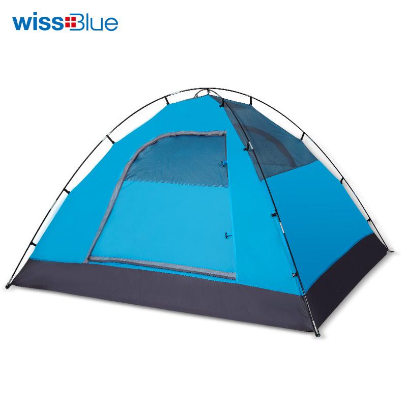 维仕蓝wissblue户外全自动帐篷  蓝色