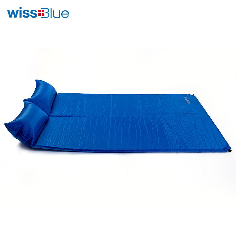 【预售30号后发货】维仕蓝双人自动充气垫WA8040 蓝色  蓝色