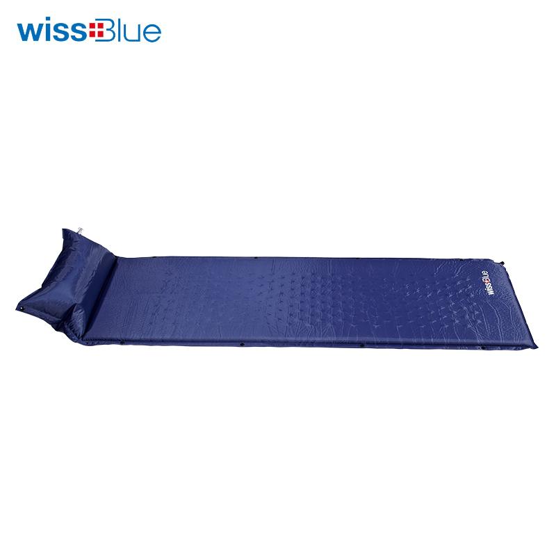 维仕蓝单人拼接带枕充气垫WA8049-B 蓝色