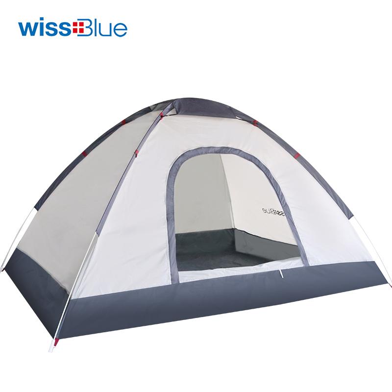 维仕蓝 户外畅玩 极速秒开 双人自动抛帐篷 WR6038 白色
