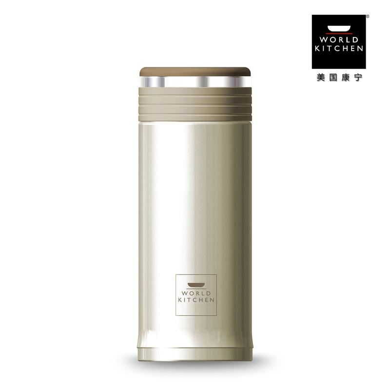 WORLD KITCHEN 美国康宁 臻享 可拆卸真空不锈钢保温、保冷杯 WK003/360LC(360ml)  白色