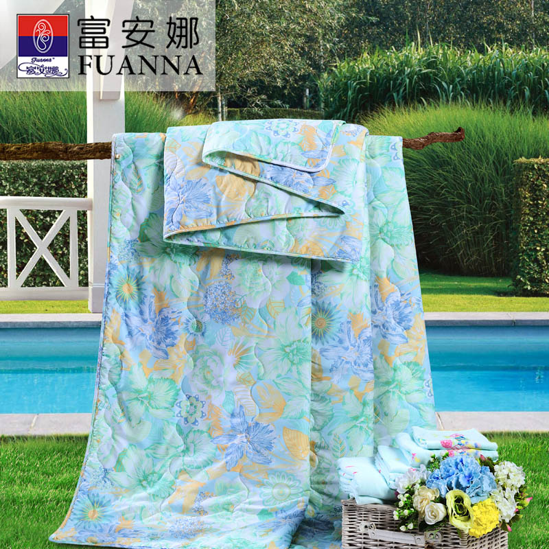 富安娜夏被 夏凉被 空调被 152*210cm如歌春风 混色