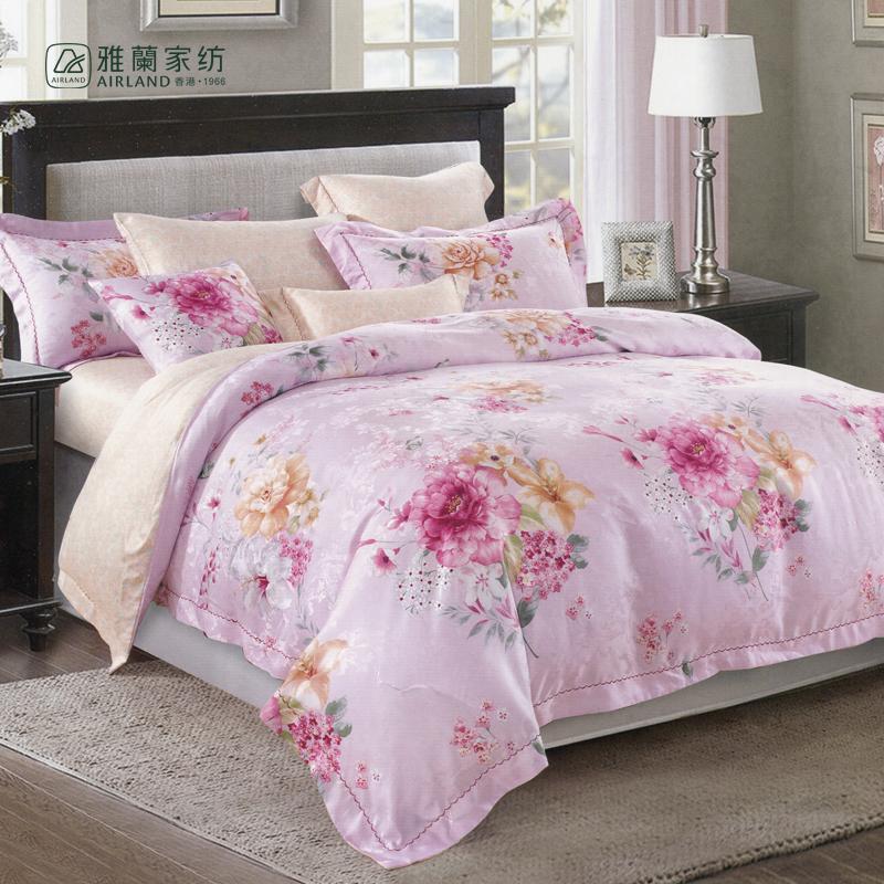雅兰悠然花香床上四件套悠然花香1.8床适用 混色