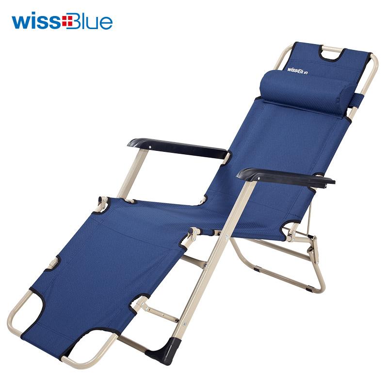 维仕蓝 午睡单人三用折叠床WD5031-B  蓝色