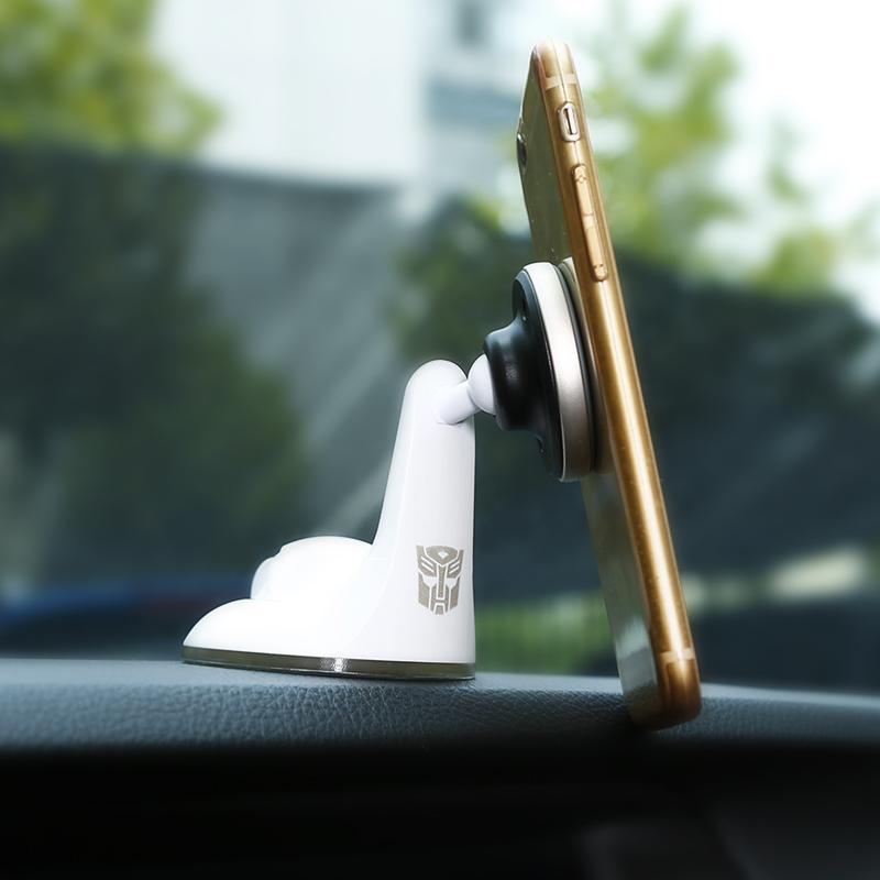 变形金刚小天鹅多功能车载磁吸支架  白色