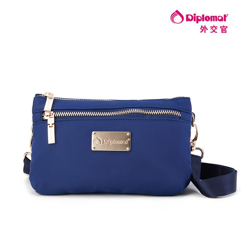 外交官蓝色斜挎包DB-19030-2 蓝色 蓝色