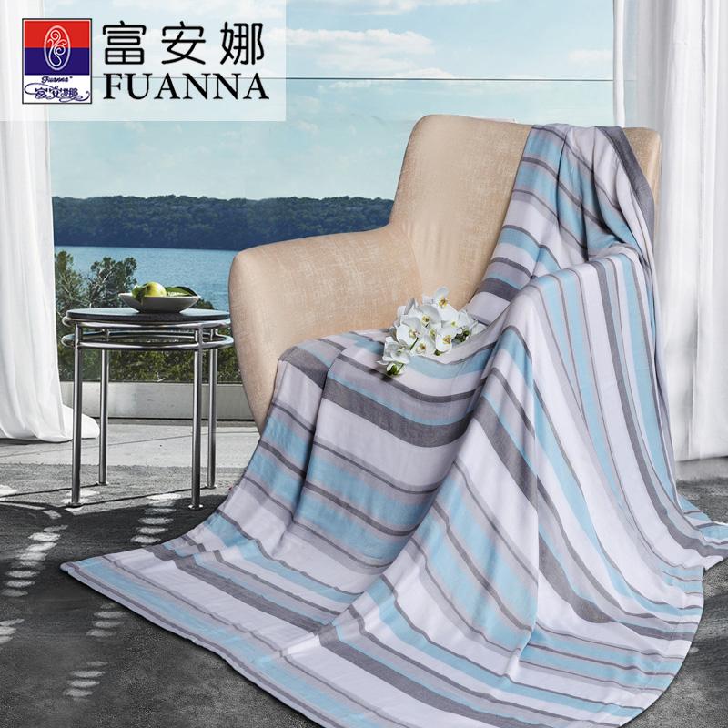 富安娜cm色织毯-初见140*190CM 天蓝色