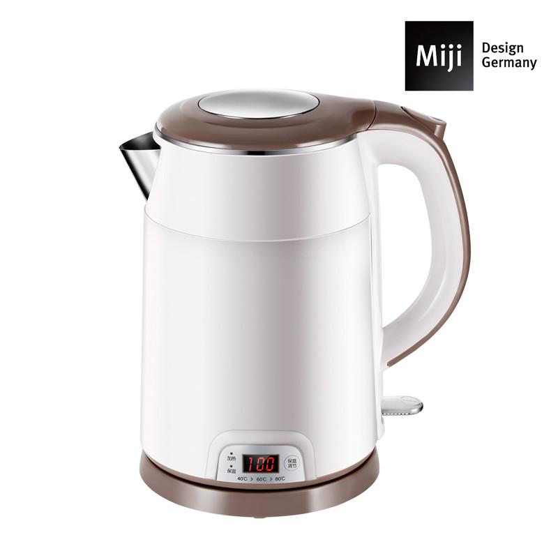 德国Miji 米技 不锈钢电热水壶(保温型)HK-4252 白色