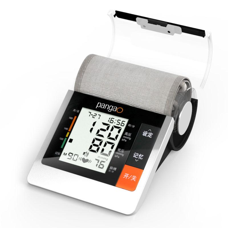 攀高智能黑金刚上臂式语音电子血压计PG-800B10 混色