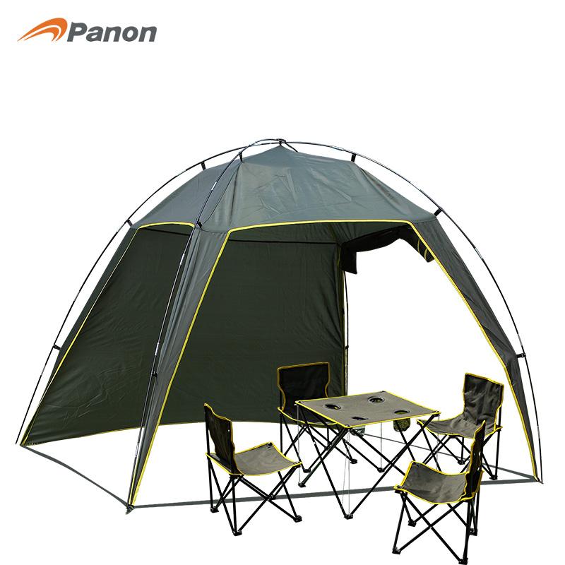 攀能 PANON 户外怡情套装帐篷 天幕式 遮阳 4人折叠桌椅PN-2243 绿色