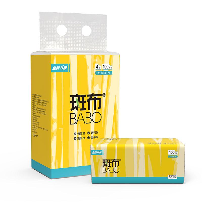 斑布BASE 系列抽纸100抽4包装