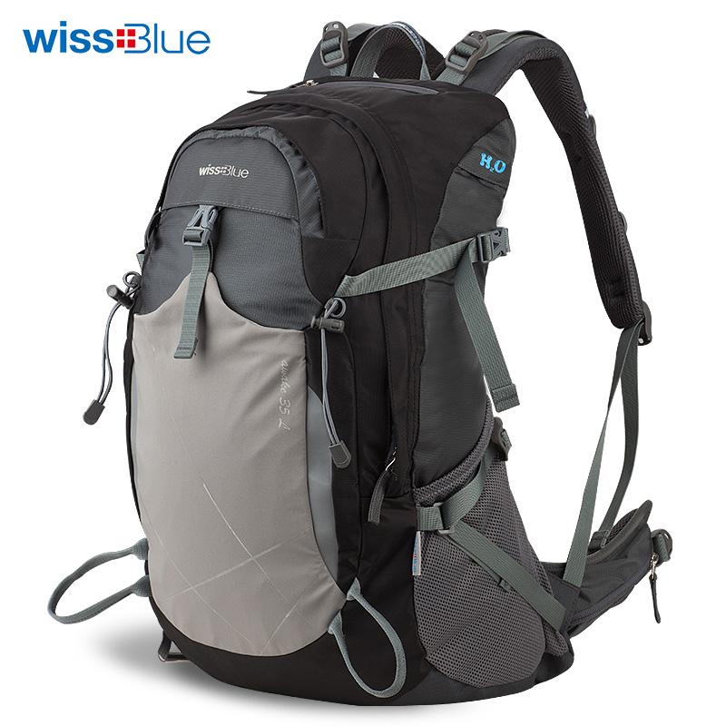 维仕蓝户外双肩登山包WB1074 黑色 黑色