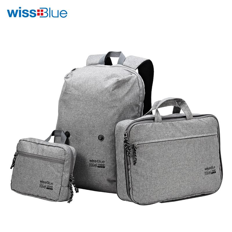 维仕蓝至简系列轻量组合包WB1176 灰色 灰色