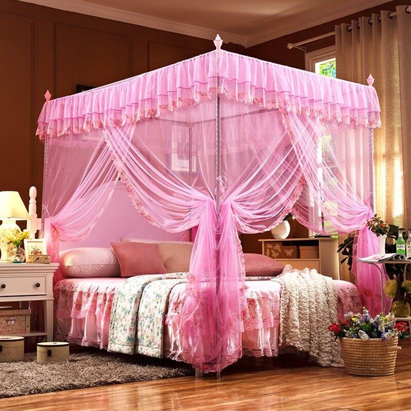 维仕蓝新款22mm立柱蚊帐(粉色)三开门蚊帐1.5*2.0米 22MM立柱蚊帐(粉色 粉红色 1.5米床  粉红色