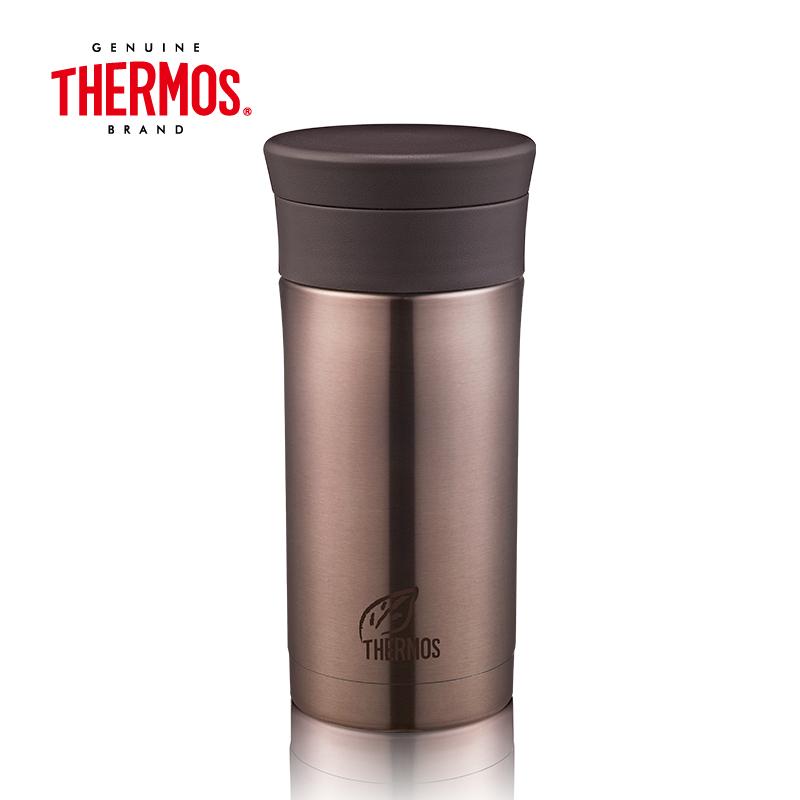 THERMOS膳魔师 304不锈钢保温杯 350ML CMK-351(P)  褐色   褐色