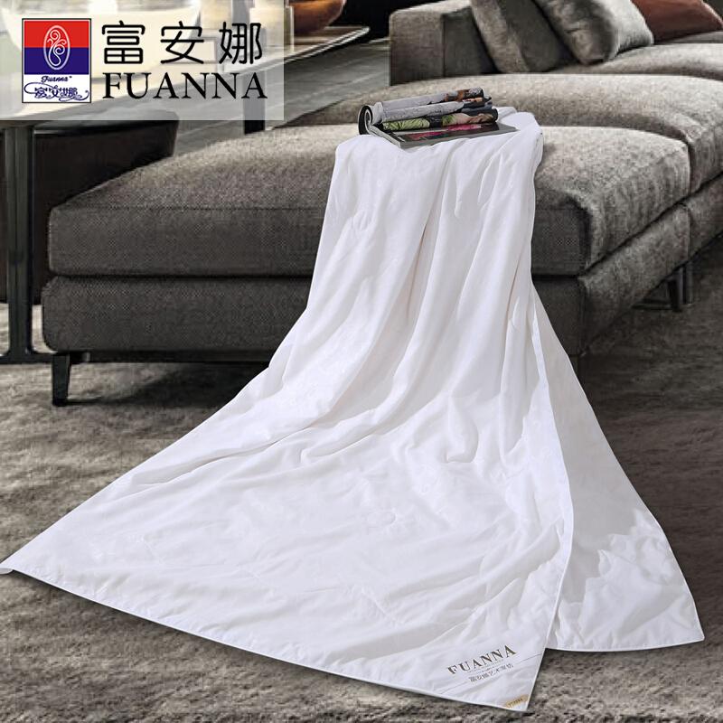 富安娜白色芯润蚕丝夏被1.5M床  白色