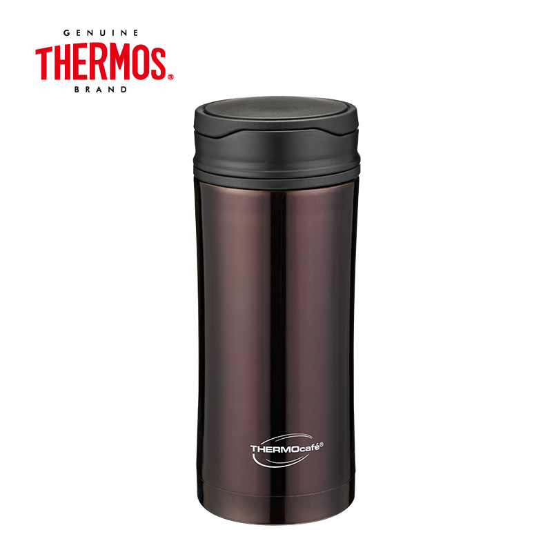 THERMOS膳魔师 双层304医用不锈钢 凯菲保温杯 370ML  CSYA-370  褐色   褐色