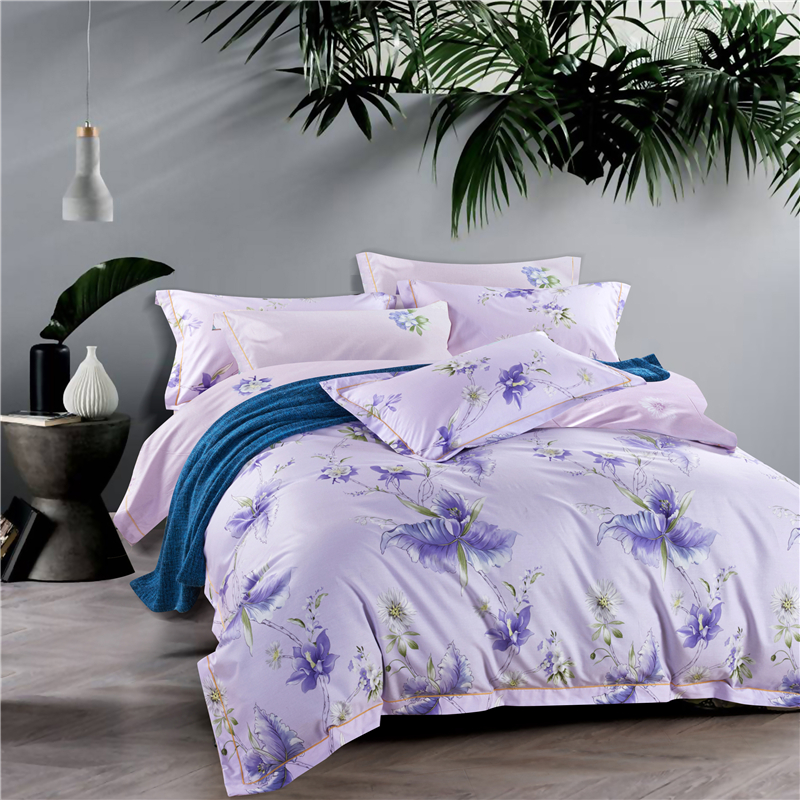雅兰全棉新肤四件套 1.5M床适用紫色情怀 紫色