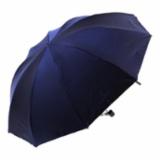 变色闪光黑胶布三折晴雨伞