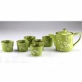 吉祥九头茶具一壶六杯-绿色