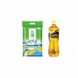 ZL-中粮·五湖珍珠米5kg+中粮·百嘉莱PEGALLO进口葵花籽油1000ml